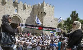 Flag Of Jerusalem Tensions Arise As Thousands Of Israelis Celebrate U0027jerusalem Day