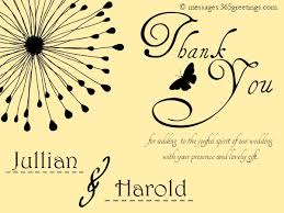 Bridal Shower Greeting Wording Wedding Thank You Card Wording 365greetings Com