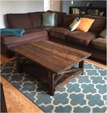 Wohnzimmer Rustikal Bild Couchtisch Holz Mit Ablage Sofa L Form Braun Lapazca