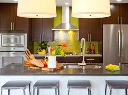 design wonderful green glass kitchen backsplash varished wooden