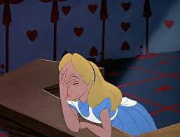 Palm Face Meme - alice in wonderland face palm facepalm blank template imgflip
