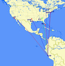 Avianca Route Map by Trying To Get A Lie Flat Flight To Peru Points With A Crew