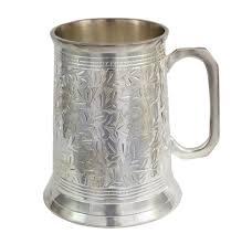 silver mug 20 oz antique silver stein