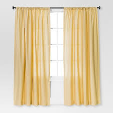 Yellow Curtain Farrah Curtain Panel Yellow 54 X84 Threshold Target