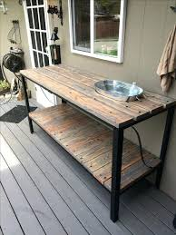 outdoor cooking prep table outdoor prep table farmhouse sink with 9 outdoor prep table and