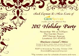 corporate luncheon invitation wording custom corporate party invitation w crimson flourish
