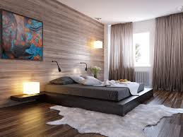 decorating modern bedroom with cool wood wall cover design