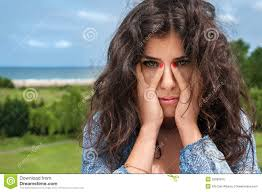 beautiful covering face royalty free stock image image