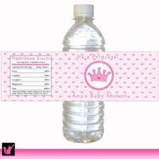 Men And Women Baby Shower - personalized water bottle label for birthday party or baby shower