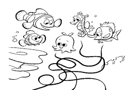 finding nemo coloring pages photos darla sheet free images finding