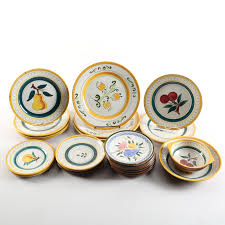 stangl pottery fruit and flowers stangl pottery fruit garden flower and tulip dinnerware ebth