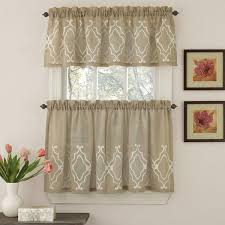Kitchen Cafe Curtains Kitchen Tier Curtains Carlyle Faux Linen Kitchen Curtains By