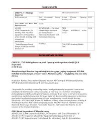 Engineering Resume Australia Inspector Electromechanical Engineer Resume Rev 01