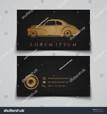 business card template classic car logo stock vector 246403126