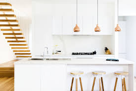 absolutely stunning kitchen copper pendant lights white handless