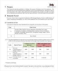 travel policy template process management trench austria