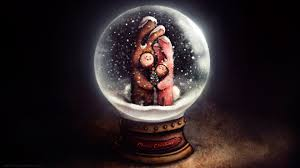 christmas snow globe wallpaper 63 images