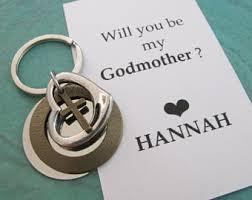 godmother keychain godmother gift personalized initial keychain godparent