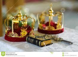orthodox wedding crowns orthodox wedding crowns gospel and cross stock photos image