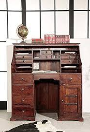 bureau style colonial bureau cabinet bois massif d acacia laqué nougat style