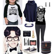out for the day with your child and taeil polyvore