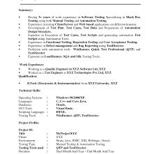 Qtp Resume Download Environmental Test Engineer Sample Resume