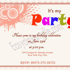 My Birthday Invitation Card Birthday Party Invitation Wording Dancemomsinfo Com