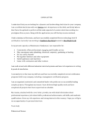 Carpentry Cover Letter Electrician Resume