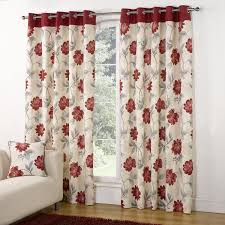 5 types of red floral curtains