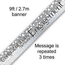 Congratulations Engagement Banner Foil Engagement Party Banners Ebay