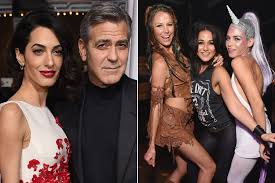 george clooney u0027s exes go to casamigos halloween party page six