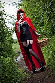 Hooded Halloween Costumes Red Riding Hood Latex Halloween Costume Material Jpg