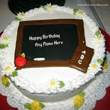 birthday cake for teacher with name