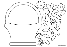 best photos of basket coloring template easter basket template