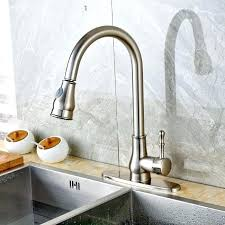 nickel kitchen sink brushed nickel kitchen faucet with side spray
