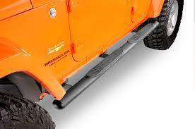 jeep wrangler 4 door orange quadratec qr4 heavy duty oval side steps for 07 17 jeep wrangler