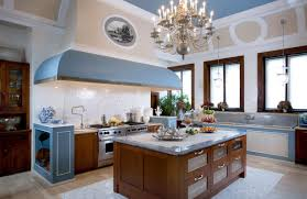 kitchen design and decoration using solid maple wood country blue white kitchen design and decoration using large light blue kitchen vent hood