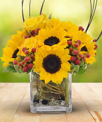 sunflower delivery roses cube bouquet same day delivery los angeles ca