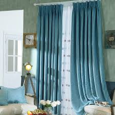 Stylish Blackout Curtains Bedroom Stylish Simple Blue Linen Blackout Curtains Designs