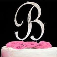 monogram letter b letter b large silver swarovski monogram diamante cake