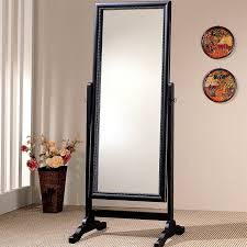 black cheval mirror jewelry armoire