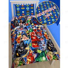 dc comics batman u0026 superman duvet cover and pillowcase sets