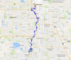 Denver Rtd Map Platte River Half Marathon Apr 08 2018 World U0027s Marathons