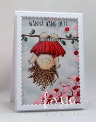 it s sneaky peeky day 3 y all and a chance to win stamping bella stamping bella spring 2017 release upside down squidgy rubber stamp card by faye wynn