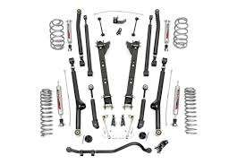 lj jeep lifted rou 61922 rough country 04 06 jeep lj 2 5in long arm suspension