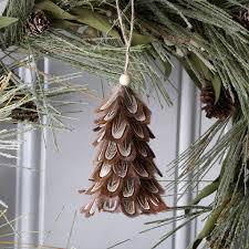 goose mini feather tree ornament