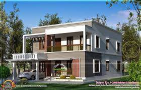 simple flat roof home design feet kerala house plans 72905