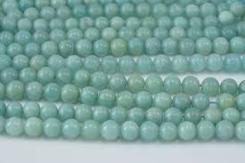 light blue semi precious stone blue chinese amazonite beads gemstone round beads light