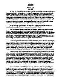 romeo u0026 juliet analysis of act 1 u0026 2 gcse english marked by