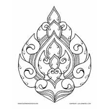 lai thai lotus coloring page for adults this is a hand drawn work